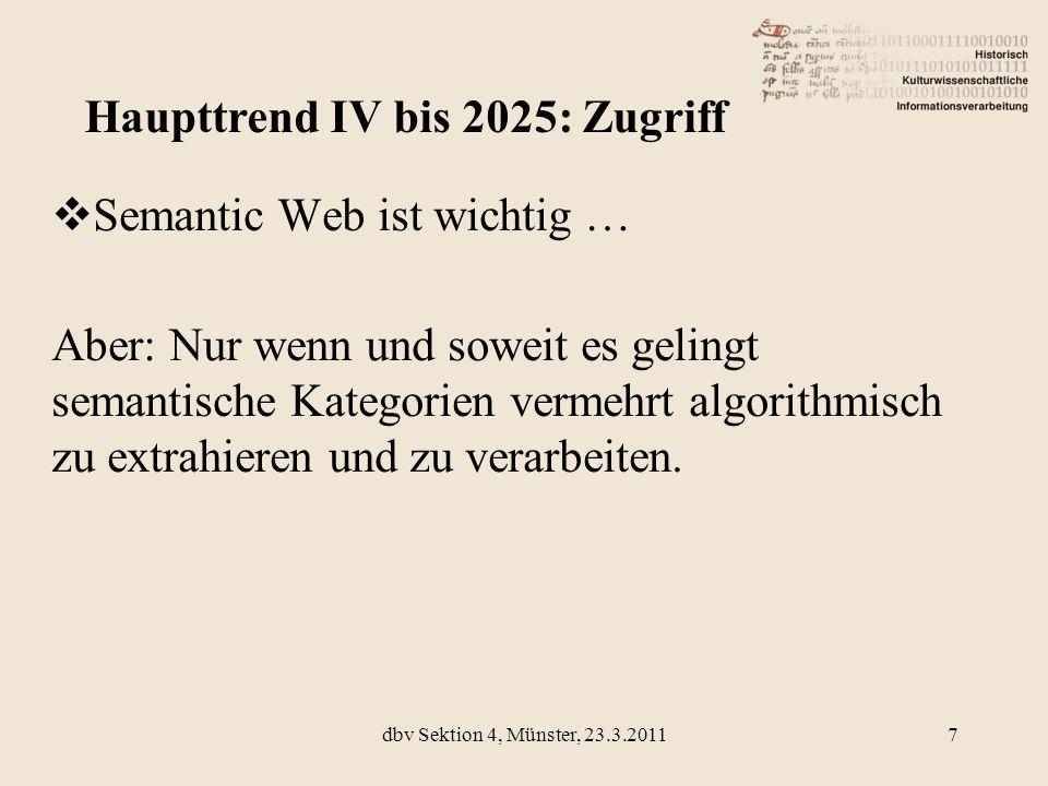 Haupttrend IV bis 2025: Zugriff