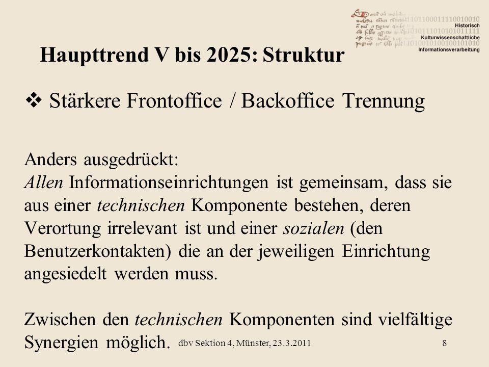 Haupttrend V bis 2025: Struktur