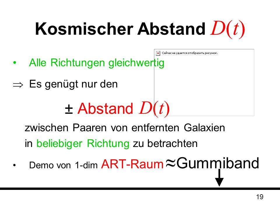 Kosmischer Abstand D(t)