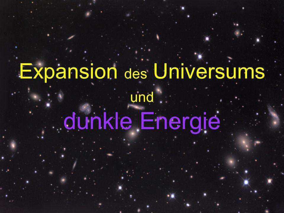 Expansion des Universums und dunkle Energie
