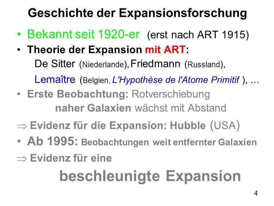 Geschichte der Expansionsforschung