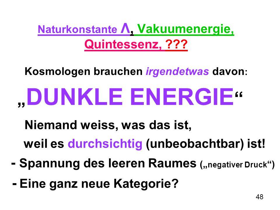 """""""DUNKLE ENERGIE Niemand weiss, was das ist,"""