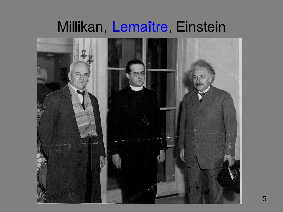 Millikan, Lemaître, Einstein