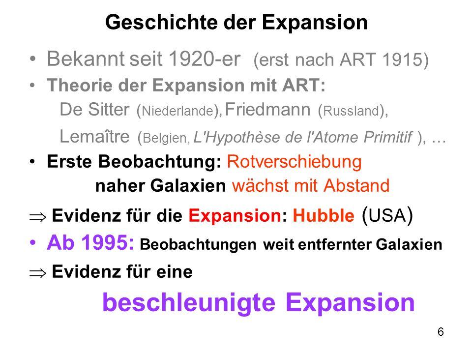 Geschichte der Expansion