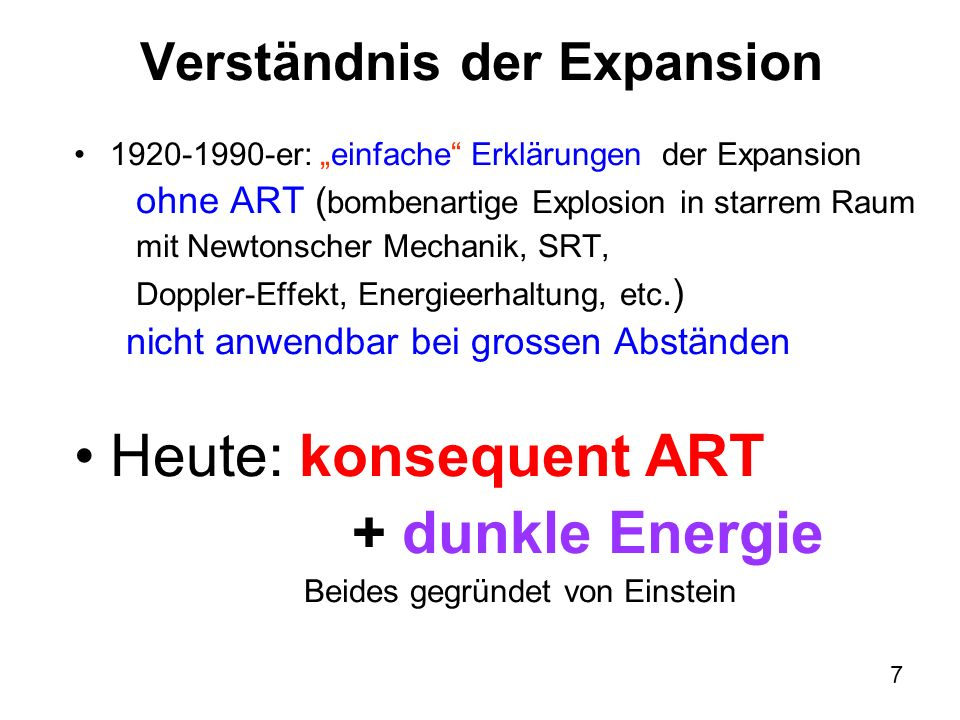 Verständnis der Expansion
