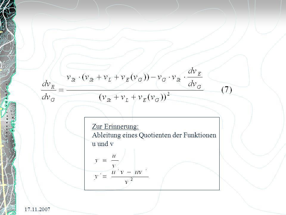 Ableitung eines Quotienten der Funktionen u und v