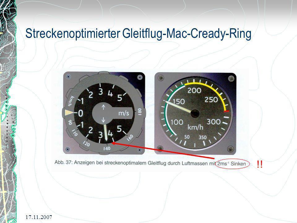 Streckenoptimierter Gleitflug-Mac-Cready-Ring