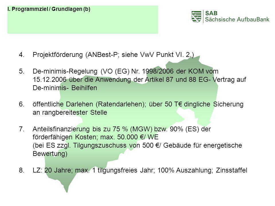 ABCDEF Projektförderung (ANBest-P; siehe VwV Punkt VI. 2.)