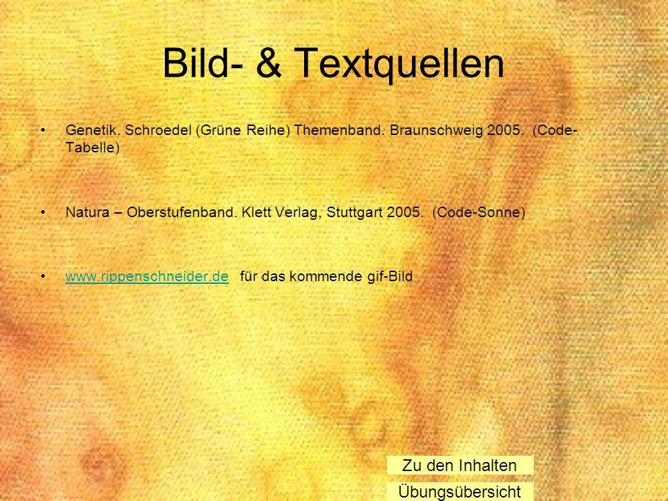 Bild- & Textquellen Zu den Inhalten Übungsübersicht