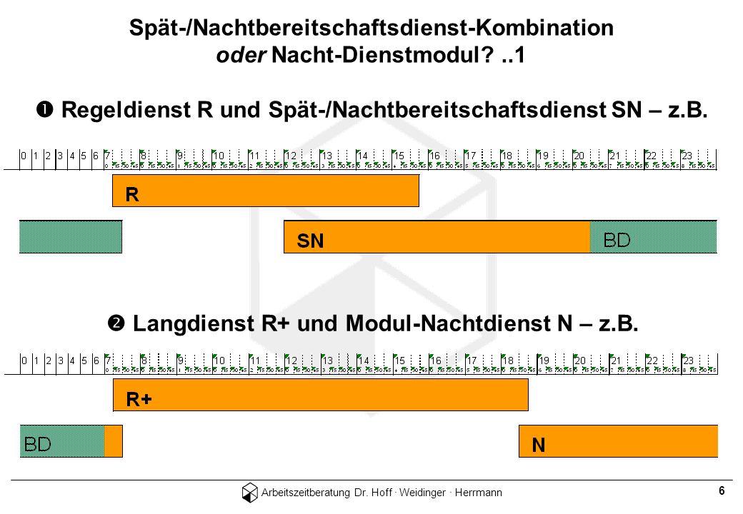  Langdienst R+ und Modul-Nachtdienst N – z.B.