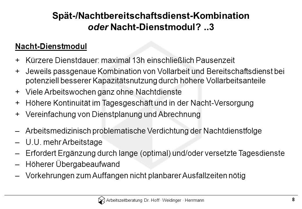 Spät-/Nachtbereitschaftsdienst-Kombination oder Nacht-Dienstmodul ..3