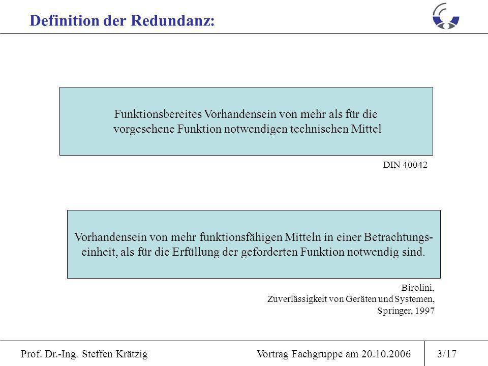 Definition der Redundanz: