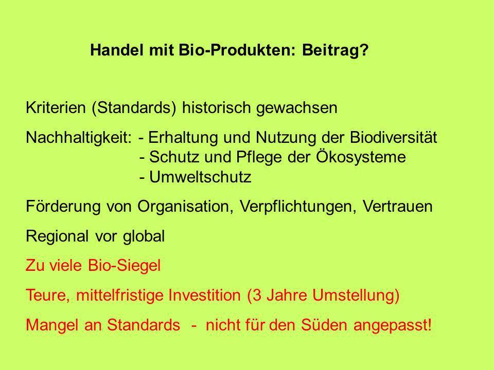 Handel mit Bio-Produkten: Beitrag