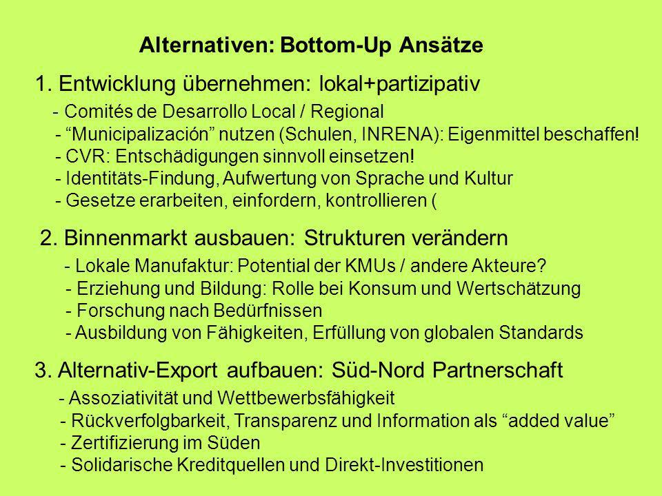 Alternativen: Bottom-Up Ansätze