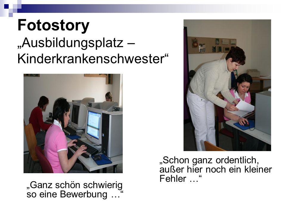 "Fotostory ""Ausbildungsplatz – Kinderkrankenschwester"