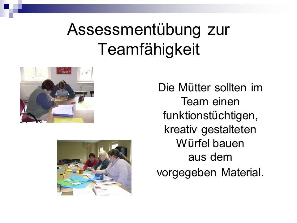 Assessmentübung zur Teamfähigkeit