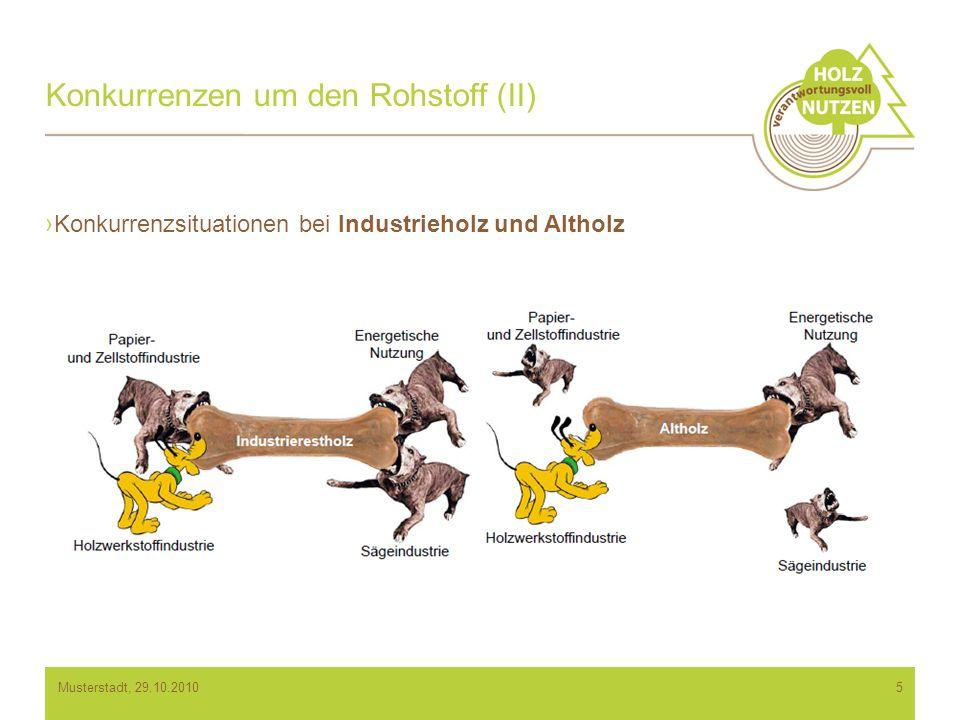 Konkurrenzen um den Rohstoff (II)
