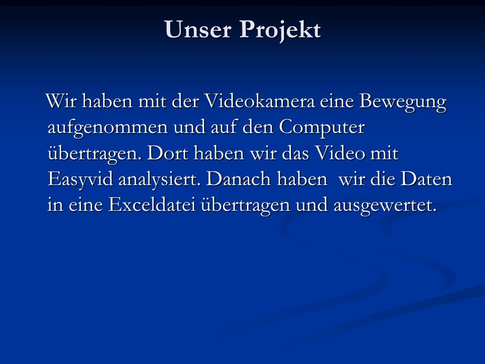 Unser Projekt
