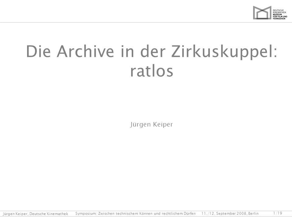 Die Archive in der Zirkuskuppel: