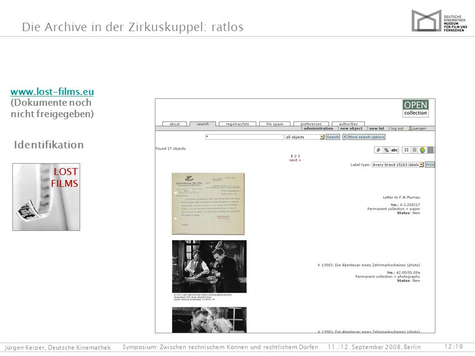 Identifikation www.lost-films.eu (Dokumente noch nicht freigegeben)