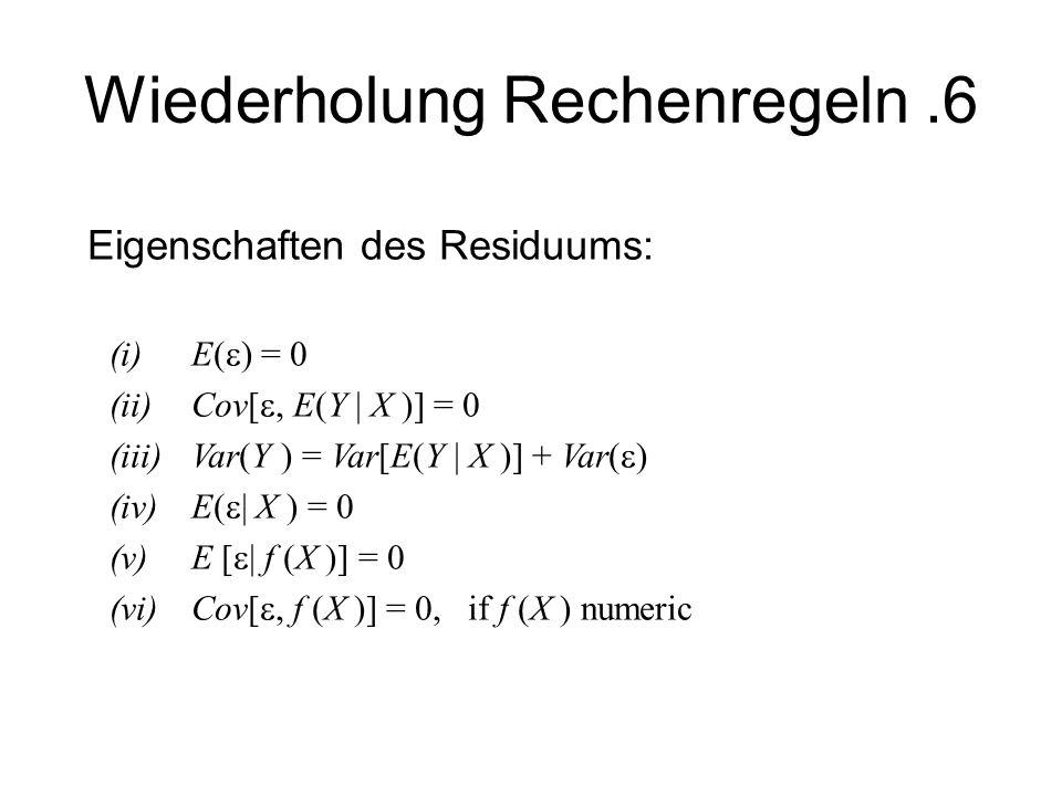 Wiederholung Rechenregeln .6
