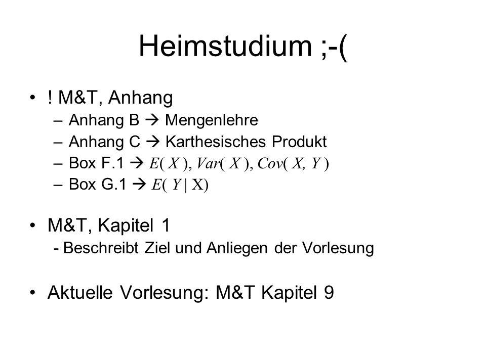 Heimstudium ;-( ! M&T, Anhang M&T, Kapitel 1