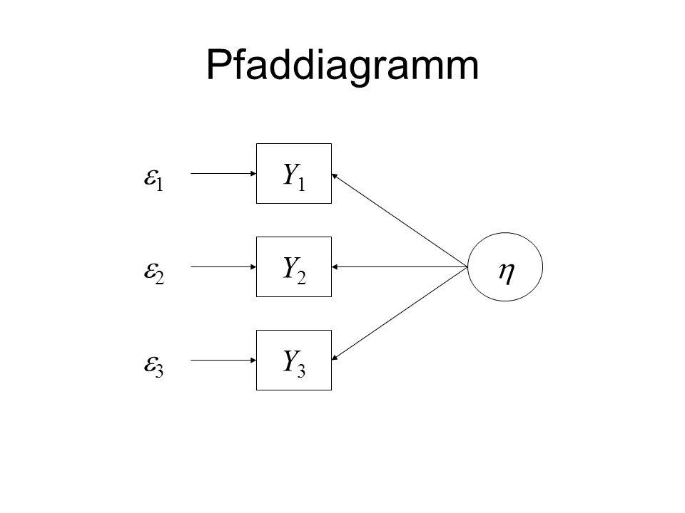 Pfaddiagramm e1 Y1 e2 Y2 h e3 Y3