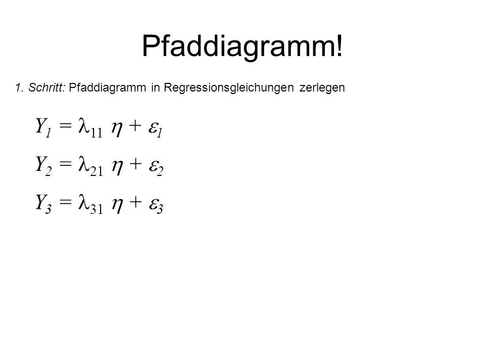 Pfaddiagramm! Y1 = 11  + 1 Y2 = 21  + 2 Y3 = 31  + 3