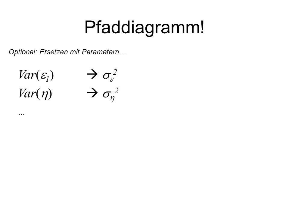 Pfaddiagramm! Var(1)  2 Var()  2 …