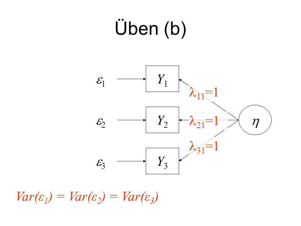 Üben (b) e1 Y1 11=1 h e2 Y2 21=1 31=1 e3 Y3