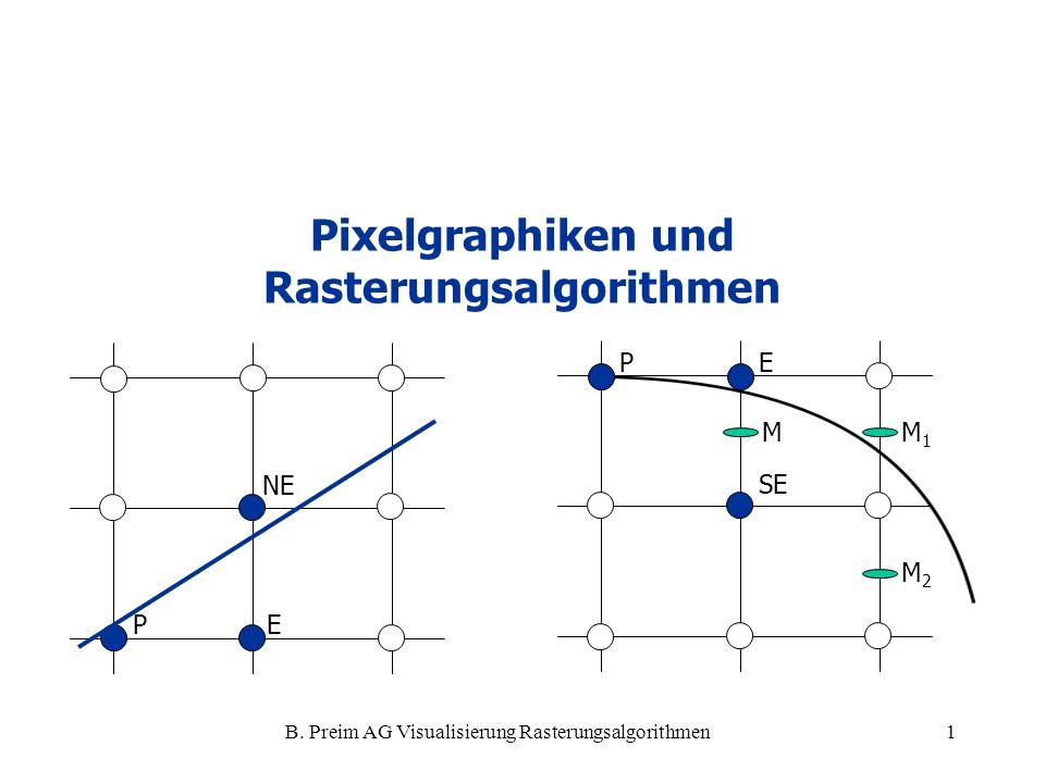 Pixelgraphiken und Rasterungsalgorithmen