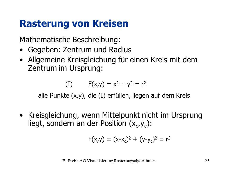 B. Preim AG Visualisierung Rasterungsalgorithmen