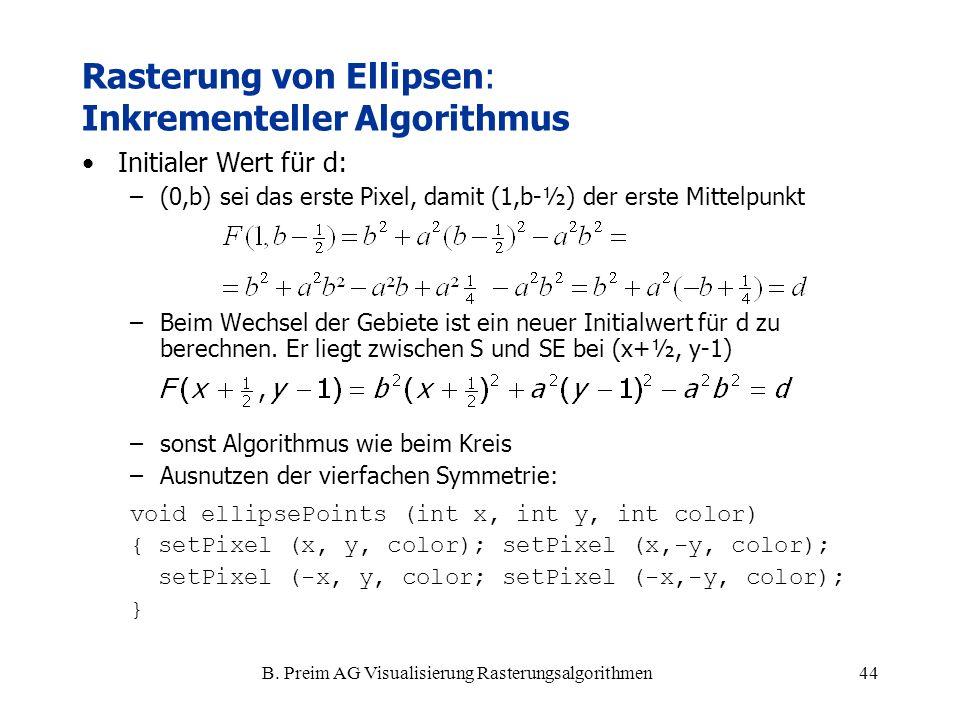 Rasterung von Ellipsen: Inkrementeller Algorithmus