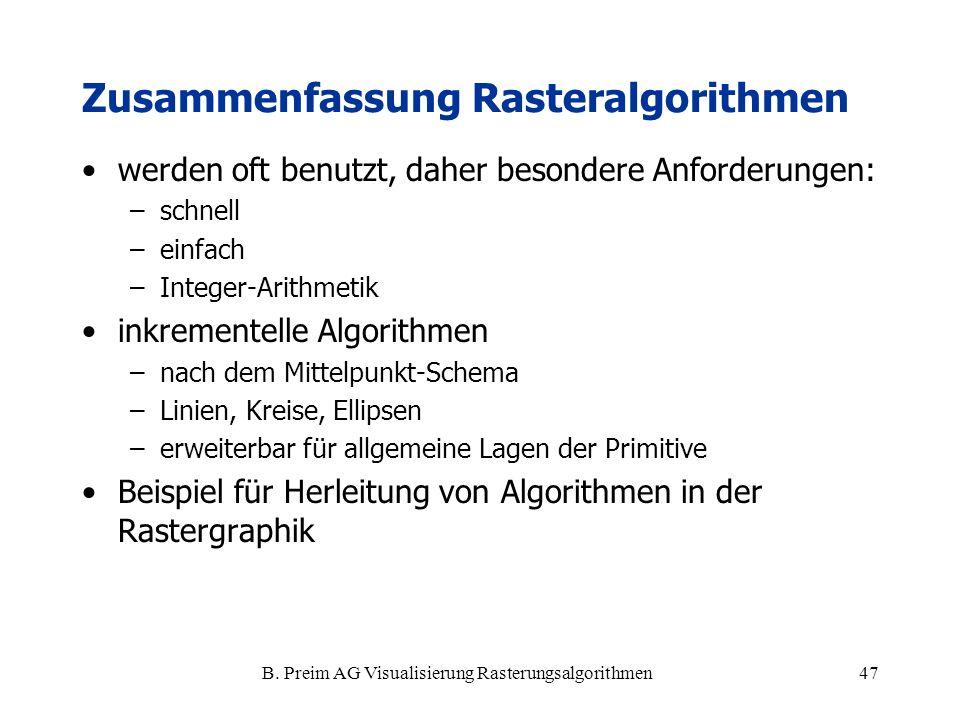 Zusammenfassung Rasteralgorithmen