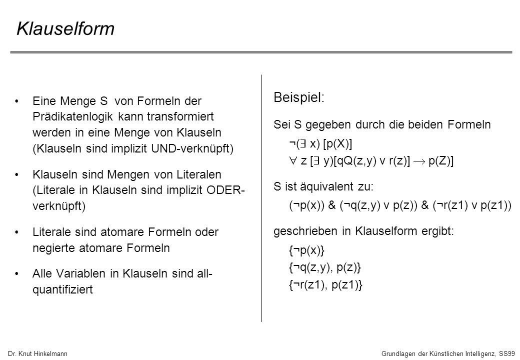 Klauselform Beispiel: