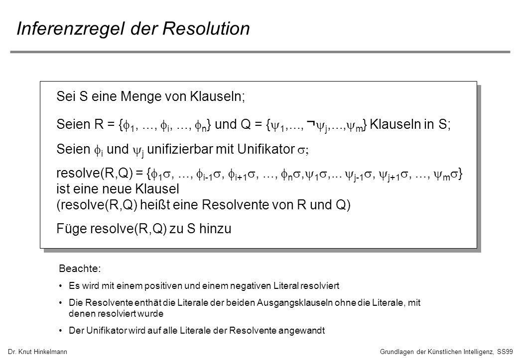 Inferenzregel der Resolution