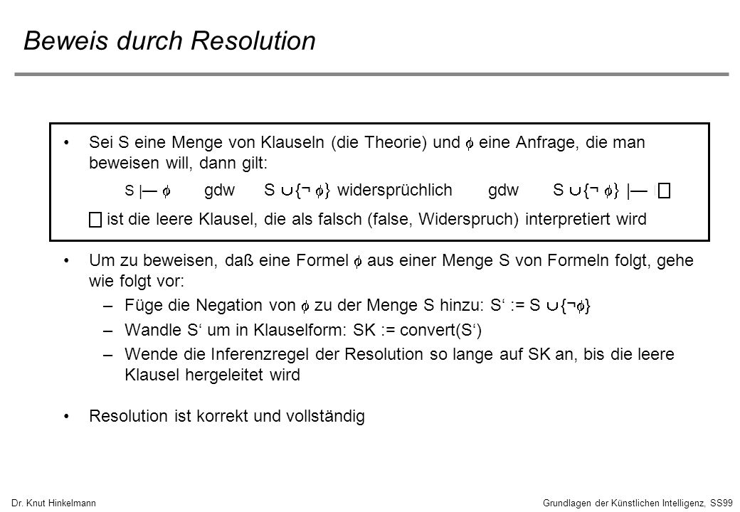 Beweis durch Resolution