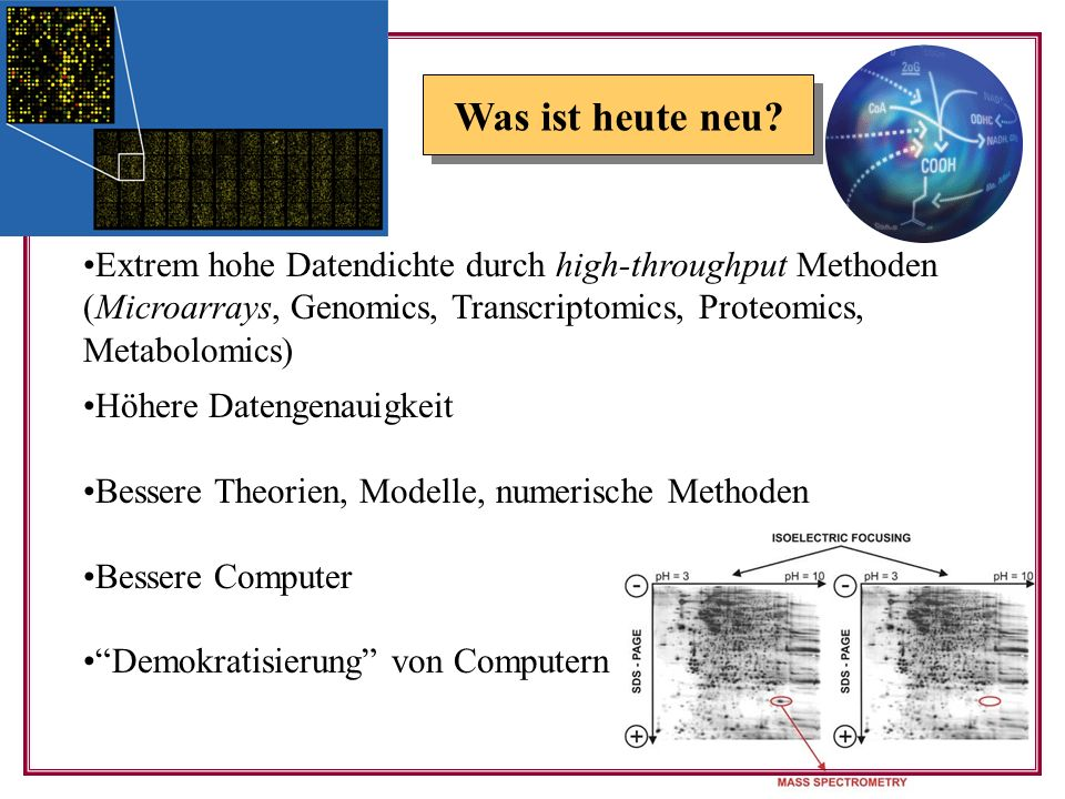 Extrem hohe Datendichte durch high-throughput Methoden