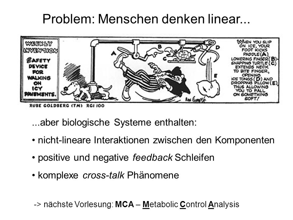 Problem: Menschen denken linear...