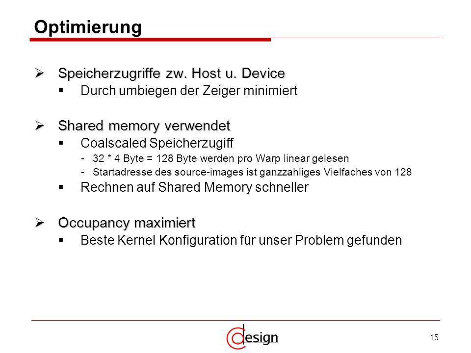 Optimierung Speicherzugriffe zw. Host u. Device