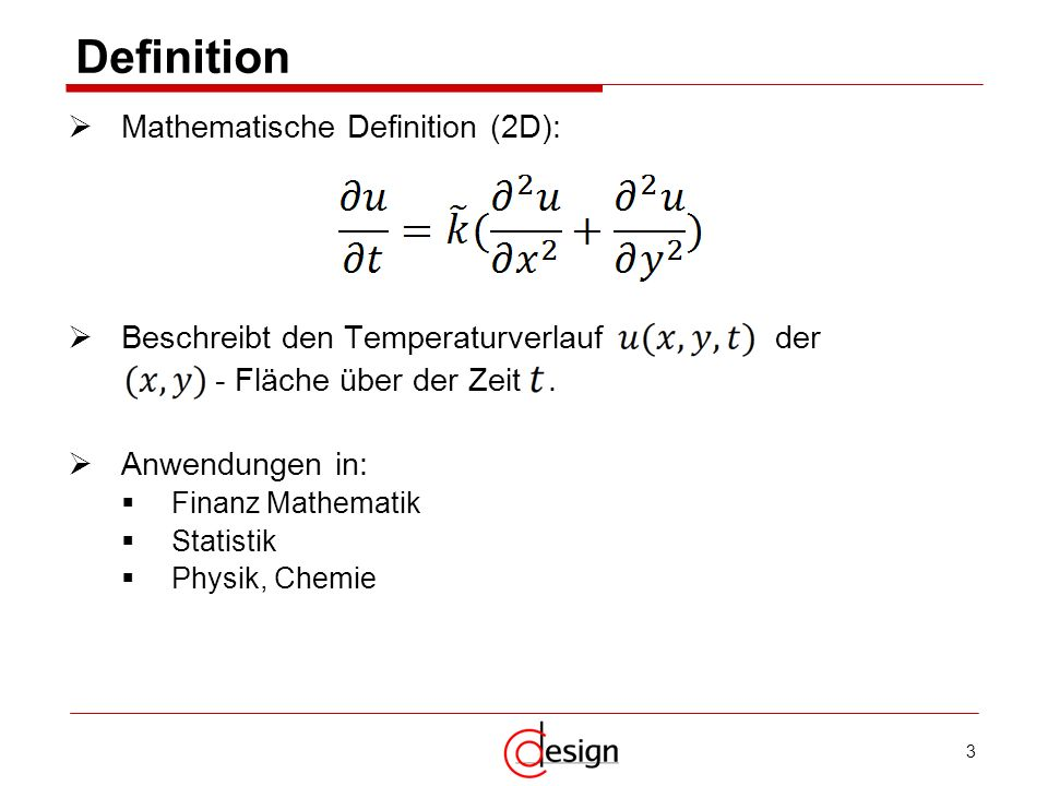 Definition Mathematische Definition (2D):