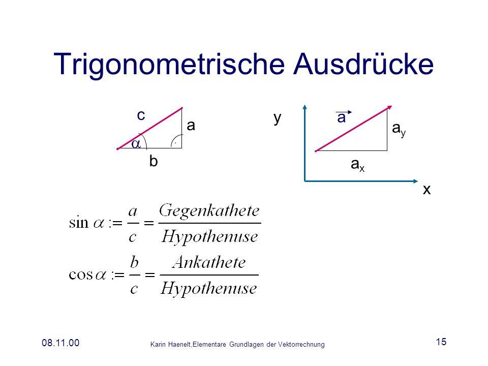 Trigonometrische Ausdrücke