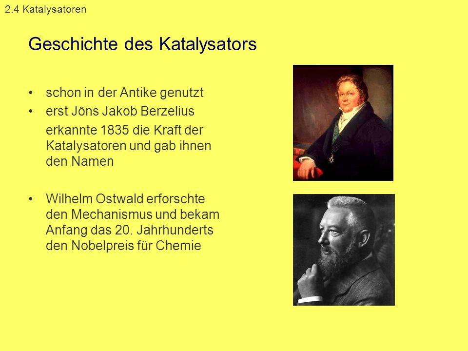 Geschichte des Katalysators