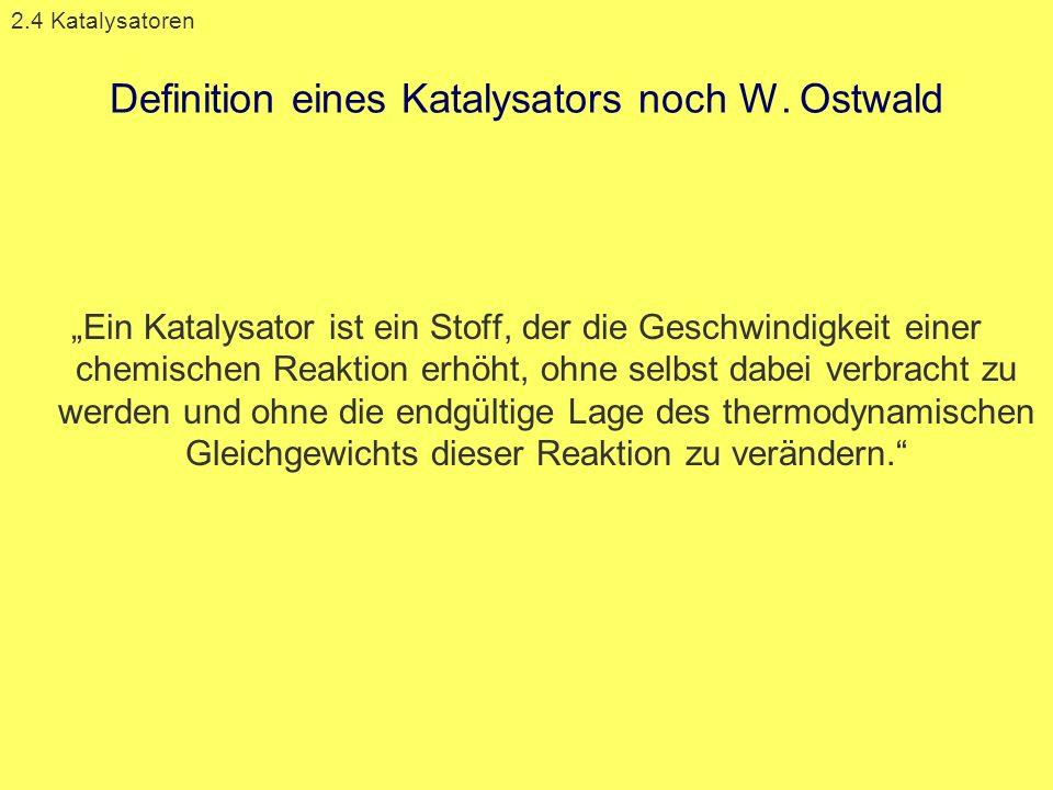 Definition eines Katalysators noch W. Ostwald