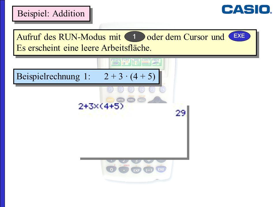 Beispielrechnung 1: 2 + 3 · (4 + 5)