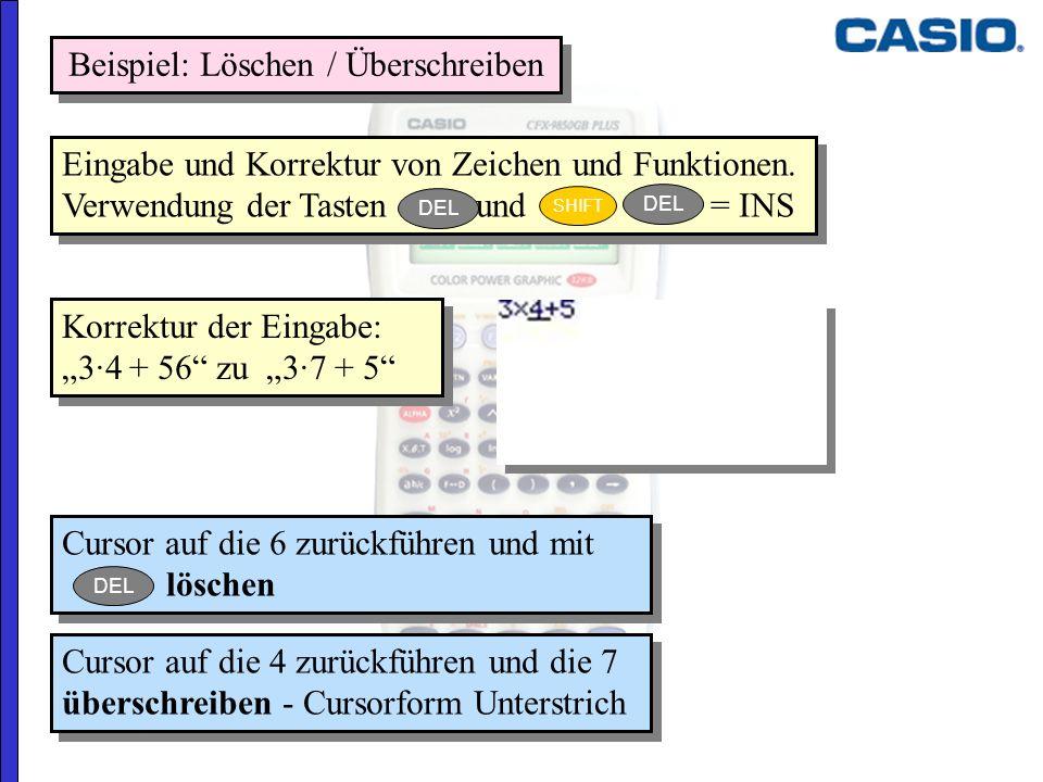 Beispiel: Löschen / Überschreiben