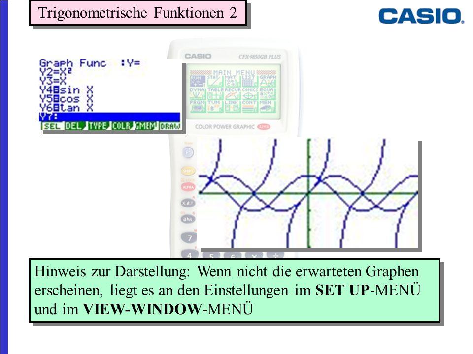 Trigonometrische Funktionen 2