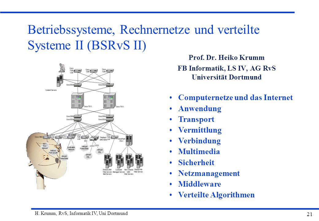 Betriebssysteme, Rechnernetze und verteilte Systeme II (BSRvS II)