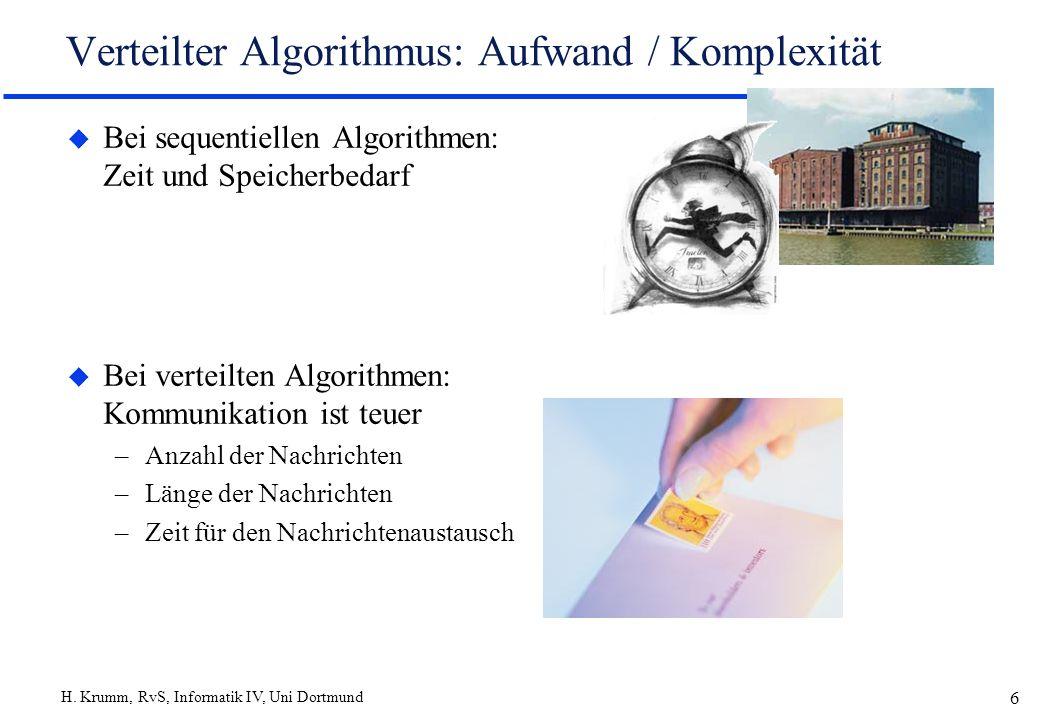 Verteilter Algorithmus: Aufwand / Komplexität