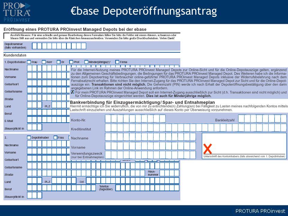 €base Depoteröffnungsantrag